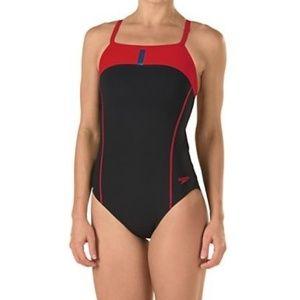 Speedo Bolt Splice Drill Back PowerPLUS Swimsuit
